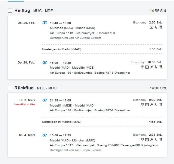 Billigflüge Kolumbien - Flugangebote ab Deutschland